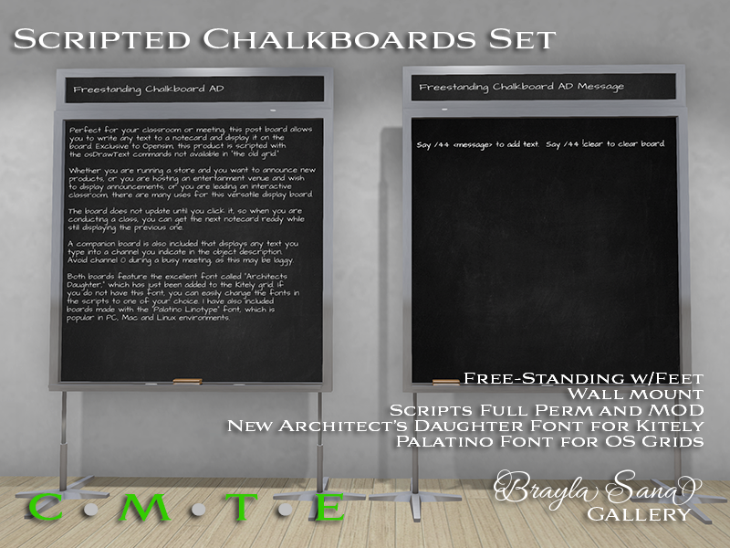 Scripted Chalkboards