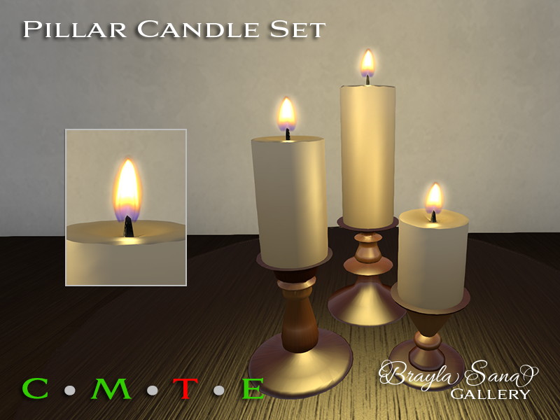 Pillar Candle Set Copper