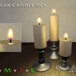 Pillar Candle Set Gunmetal